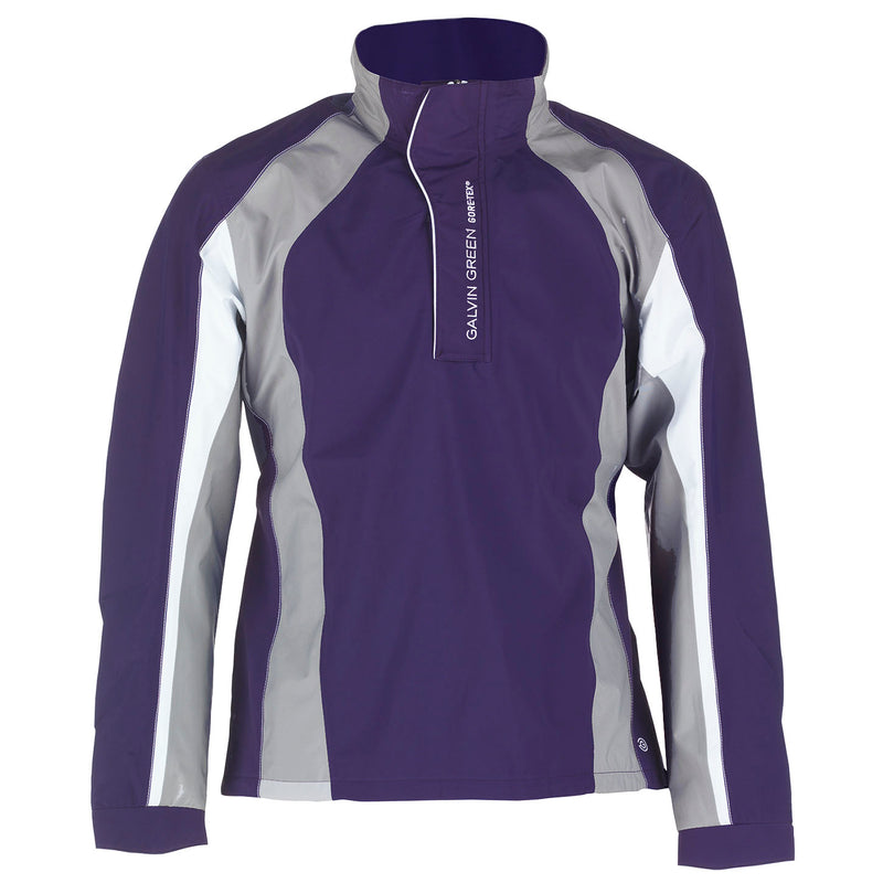 PLUM/STEEL GREY/WHITE ADDISON HALF ZIP GORE-TEX JACKET - MEN / OUTLET