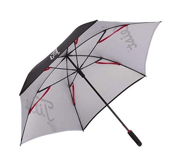 Black/White 'Tour' Single Canopy Golf Umbrella - UNISEX / 2020