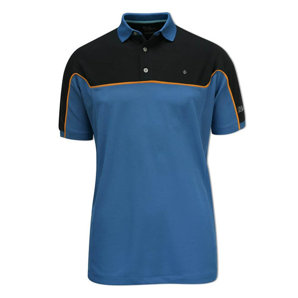 BLUE 'RUSSEL' PIN POLOSHIRT - MEN / OUTLET