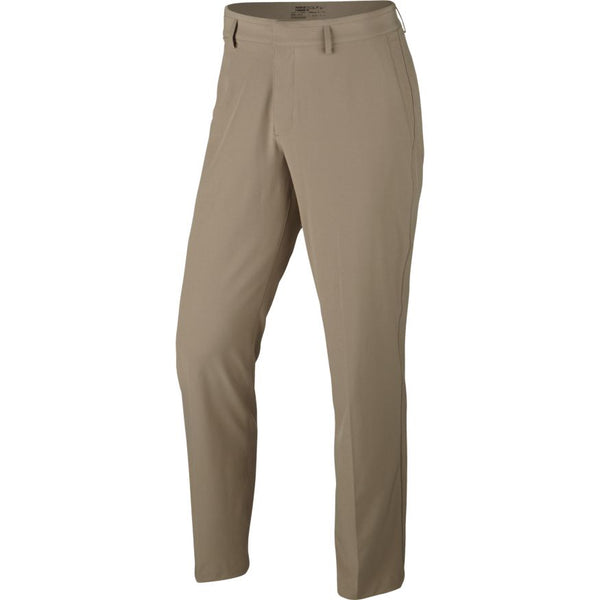 KHAKI/ANTHRACITE FLAT FRONT STRETCH WVN PANT   -