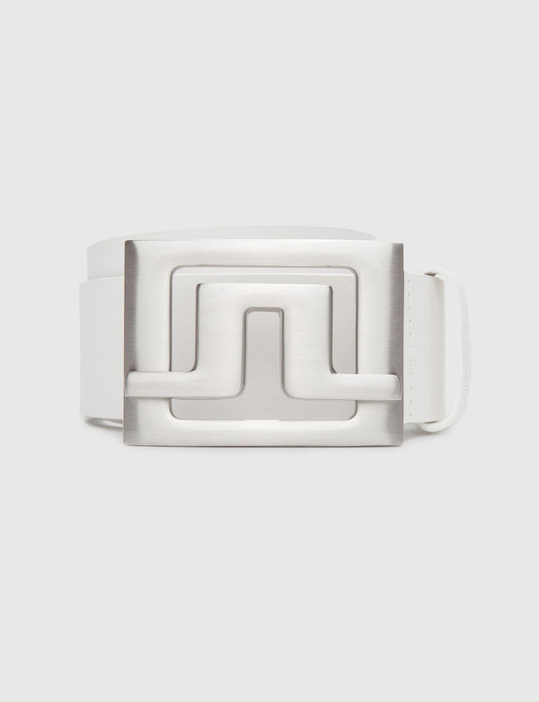 White Slater 40 White Leather Belt  - Men's / SS19