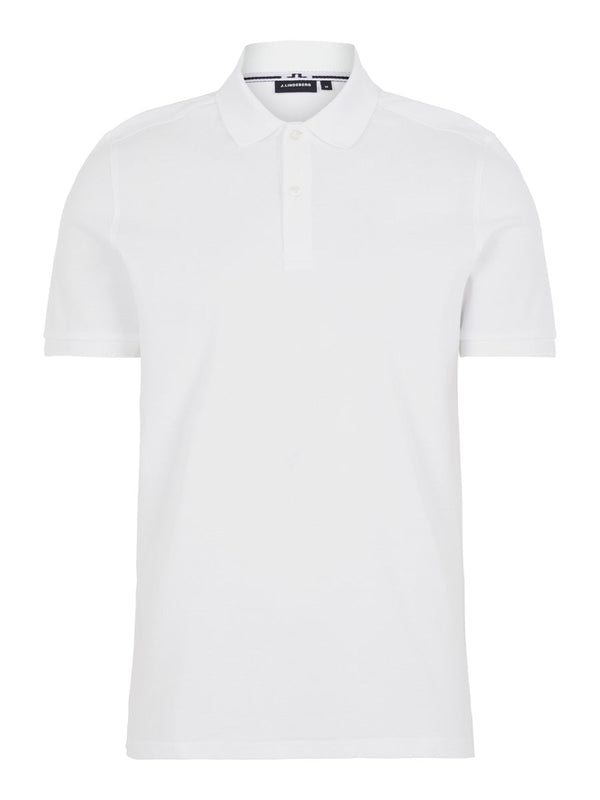 White 'Troy' Clean Pique Polo Shirt - MEN / SS20