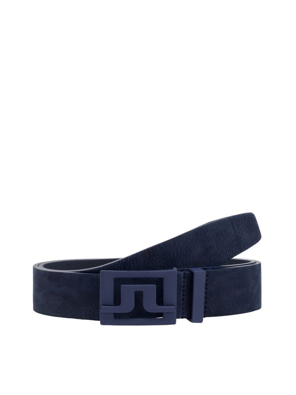 JL Navy Slater 40 Brushed Leather Belts - Men's / AW18