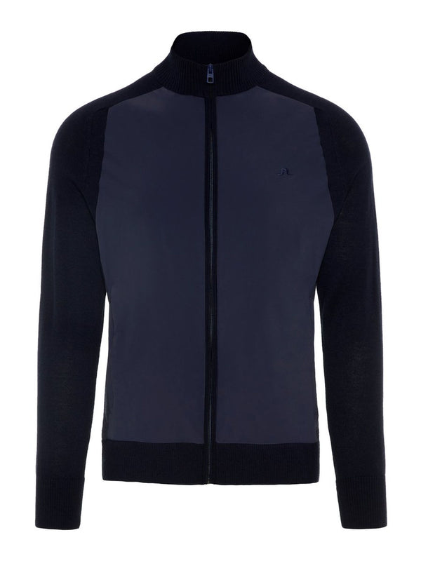 JL Navy M Knitted Hybrid Jacket Outerwear Performance - Men's / AW18