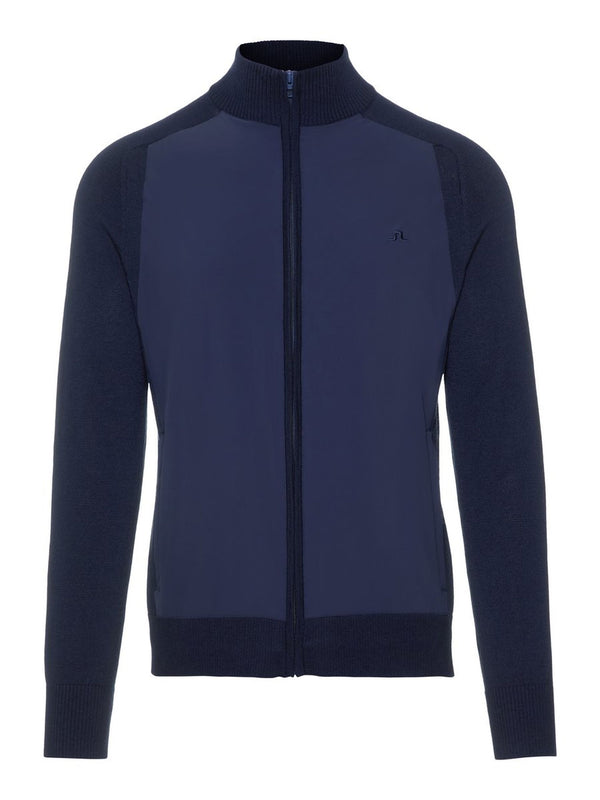 Navy KNITTED SOFTSHELL JACKET  - Men's / SS19