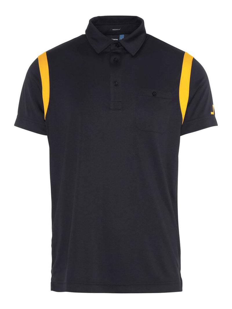 Black DOLPH SLIM Fit  Short Sleeve Golf Polo  - Men's / SS19