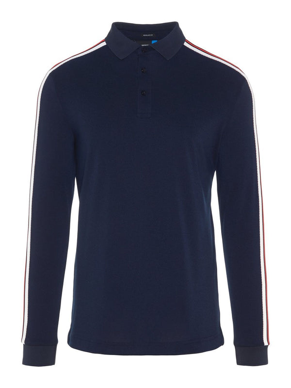JL Navy BLUE LS Reg COOL Golf Polo  - Men's / SS19