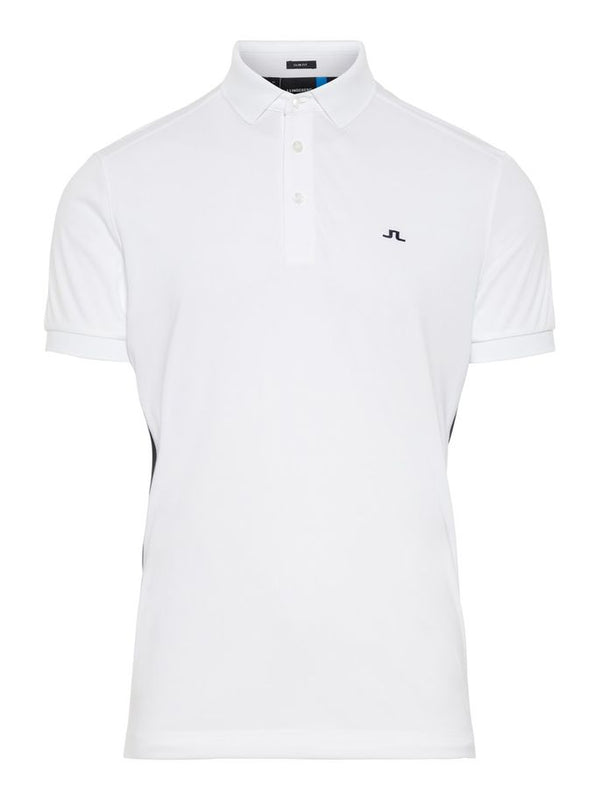 White DARIO SLIM FIT TX JERSEY+ Short Sleeve Golf Polo   -  Men's / SS19