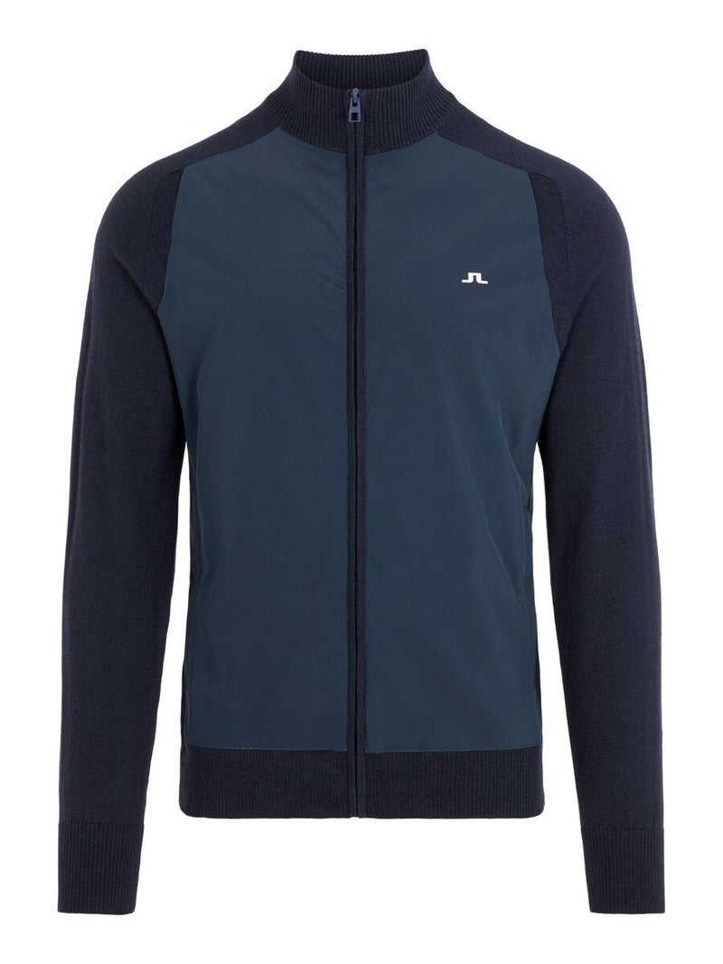 Navy Knitted Hybrid Golf Jacket - MEN'S / AW19