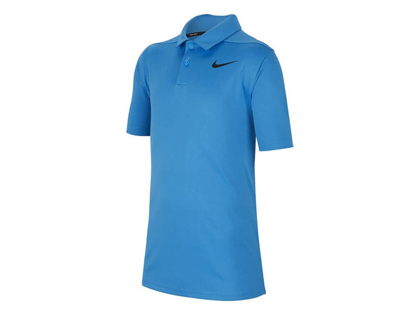 Blue 'VICTORY' golf polo shirt - Junior / SS20