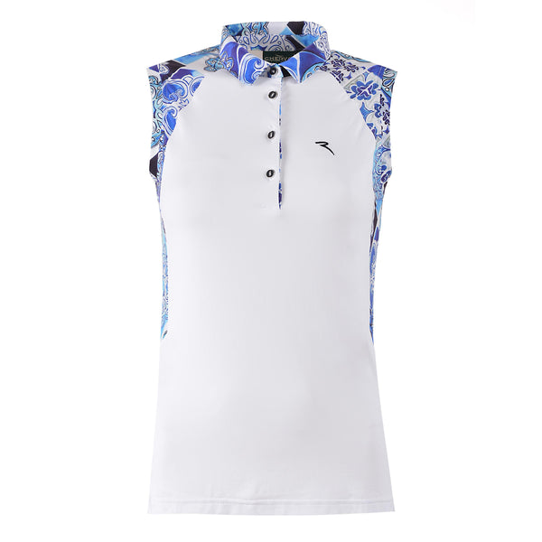 WHITE ALETHA POLO - WOMEN / OUTLET