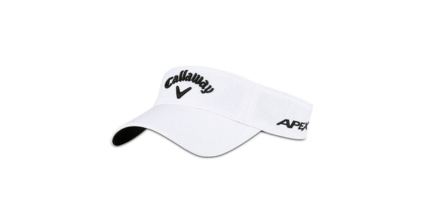 White 'Tour Authentic' Low Pro Golf Visor - MEN