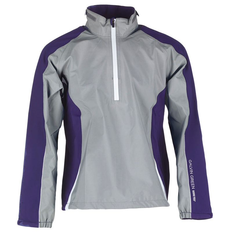 STEEL GREY/PLUM/IRON GREY/WHITE ACTION GORE-TEX HALF ZIP JACKET   -