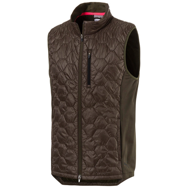 OLIVE 'PWRwarm Extreme' GOLF VEST - MEN / OUTLET