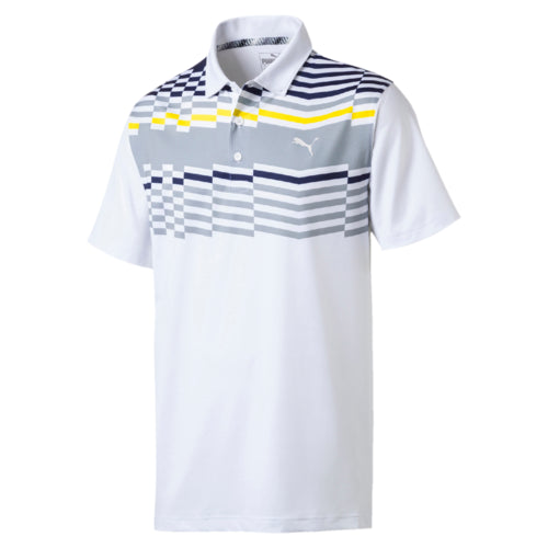 YELLOW ROAD MAP GOLF POLO - MEN'S / SS19