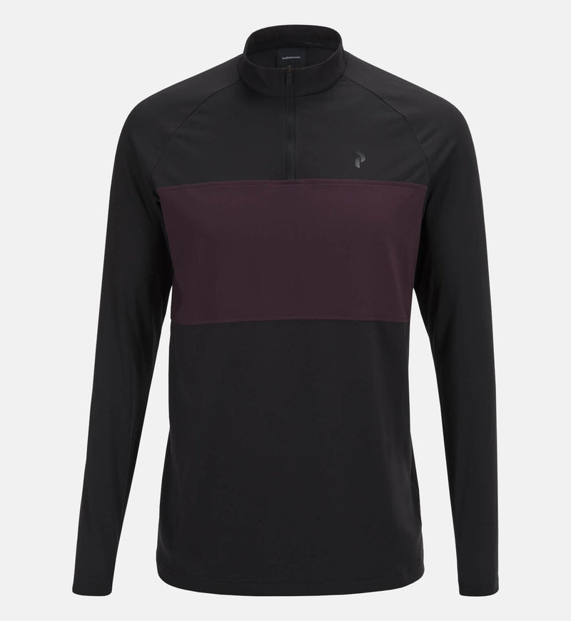 Black Base Long Sleeve Polo - AW17