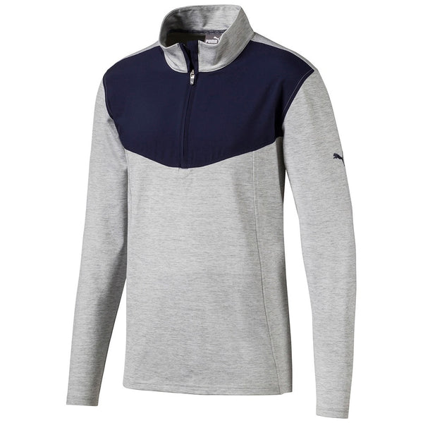 Grey Preston 1/4 Zip GOLF MID-LAYER - MALE / AW19