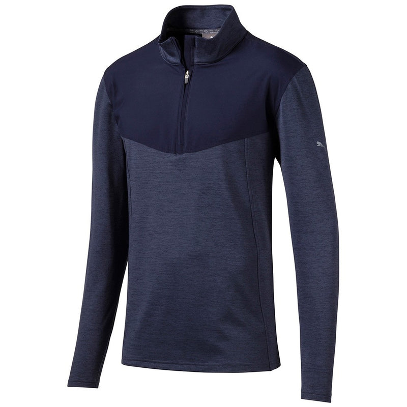 Navy 'Preston' 1/4 Zip GOLF MID-LAYER - MALE / OUTLET
