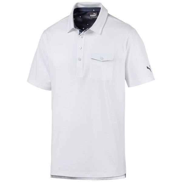 White Donegal  Golf Polo - MALE / AW19