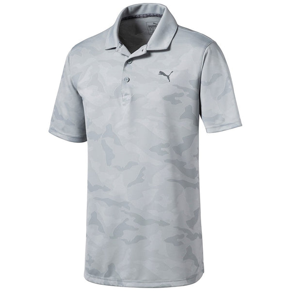 GREY ALTERKNIT CAMO GOLF POLO - MEN'S / AW19
