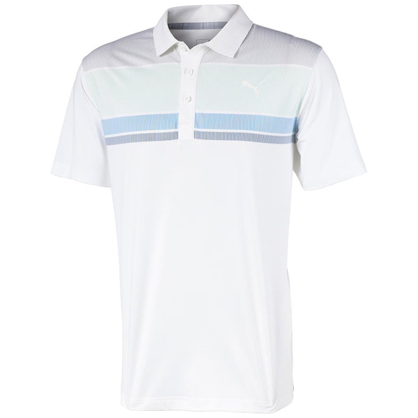 WHITE 'ROAD MAP' GOLF POLO SHIRT - MEN / SS20