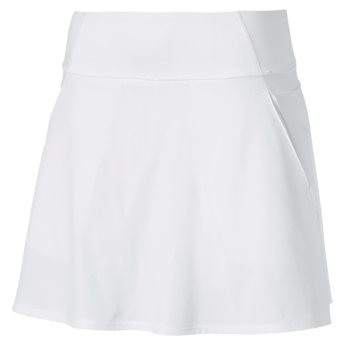 White 'PWRSHAPE' Solid Woven Skirt - WOMEN