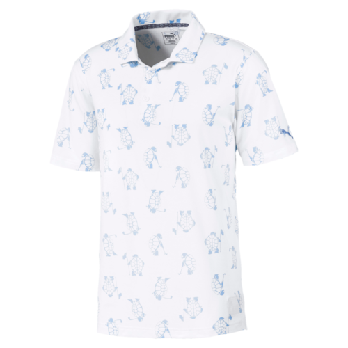 WHITE SLOW PLAY GOLF SHIRT - LIMITED EDITION / SALTWATER Collection - MEN / SS20