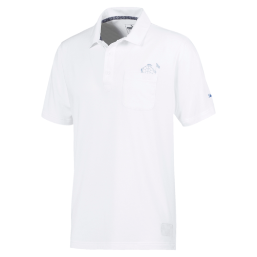WHITE TURTLE'S PACE GOLF SHIRT - LIMITED EDITION / SALTWATER Collection - MEN / SS20