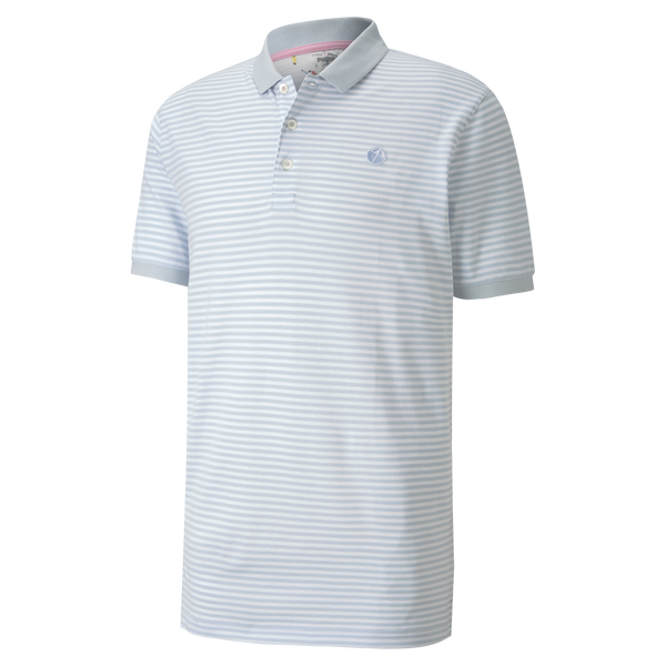 HALOGEN BLUE 'SIGNATURE STRIPE' Golf Polo Shirt - Arnold Palmer X PUMA / MEN