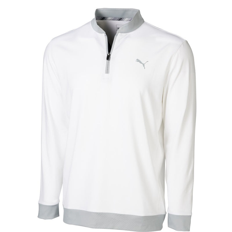white 'Stealth' 1/4 Zip golf mid layer - ss20 / men