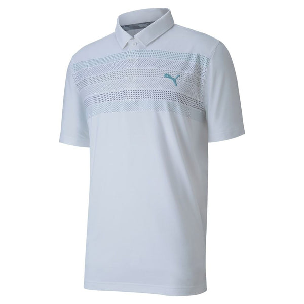 WHITE 'ROAD MAP' GOLF POLO - MEN / AW20