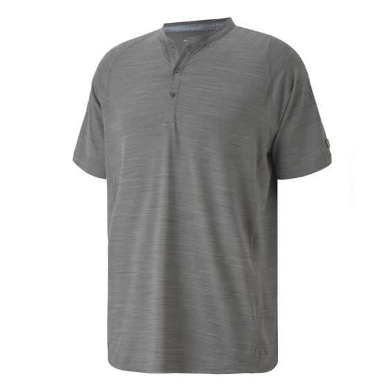 GREY 'HENLEY' GOLF SHIRT EXCELLENT GOLF WEAR - MEN / AW20