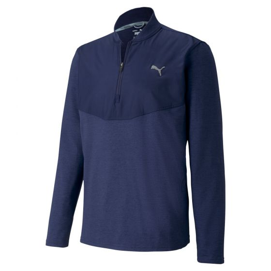 NAVY 'CLOUDSPUN STLTH' GOLF 1/4 ZIP - MEN / AW20