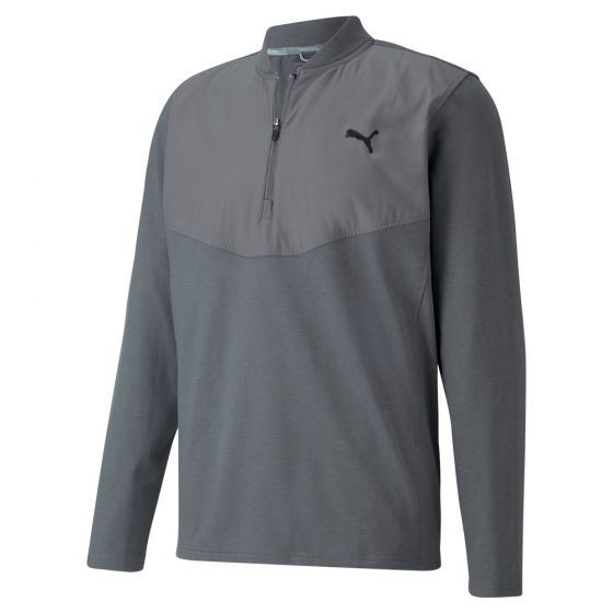 GREY 'CLOUDSPUN STLTH' GOLF 1/4 ZIP - MEN / AW20