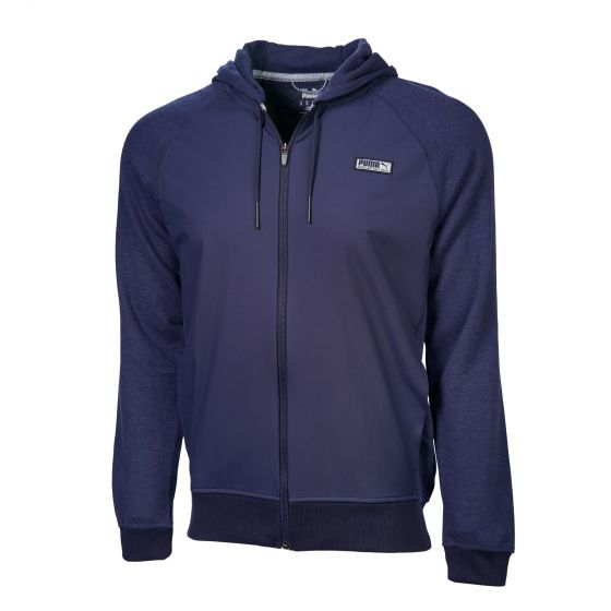 NAVY 'RUNWAY GOLF HOODIE' Excellent golf wear - MEN / AW20