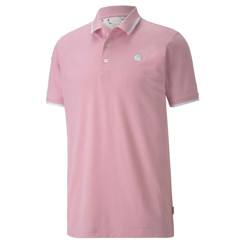 PALE PINK 'SIGNATURE TIPPED' Golf Polo 'Puma Golf X Arnold Palmer' - MEN / AW20