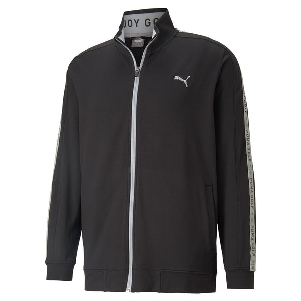 BLACK 'ENJOY GOLF TRACK' GOLF JACKET -  MEN