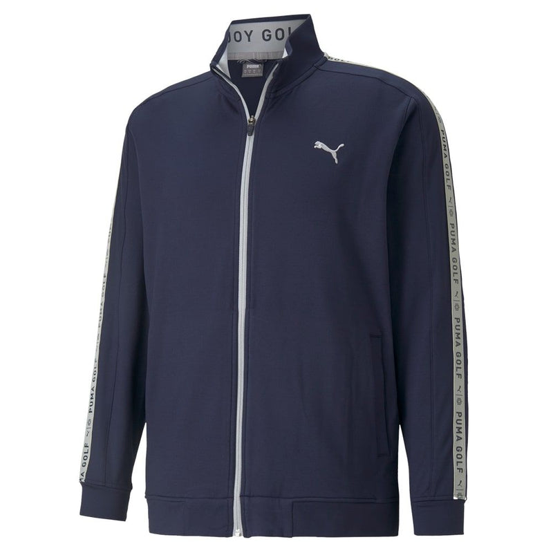 NAVY 'ENJOY GOLF TRACK' GOLF JACKET -  MEN