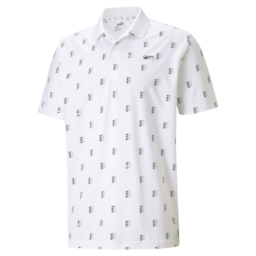 White 'Moving Day' MATTR Golf Polo Shirt - MEN