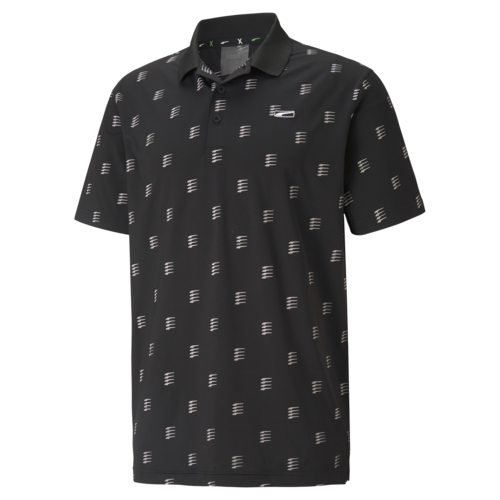 Puma Black 'Moving Day' MATTR Golf Polo Shirt - MEN