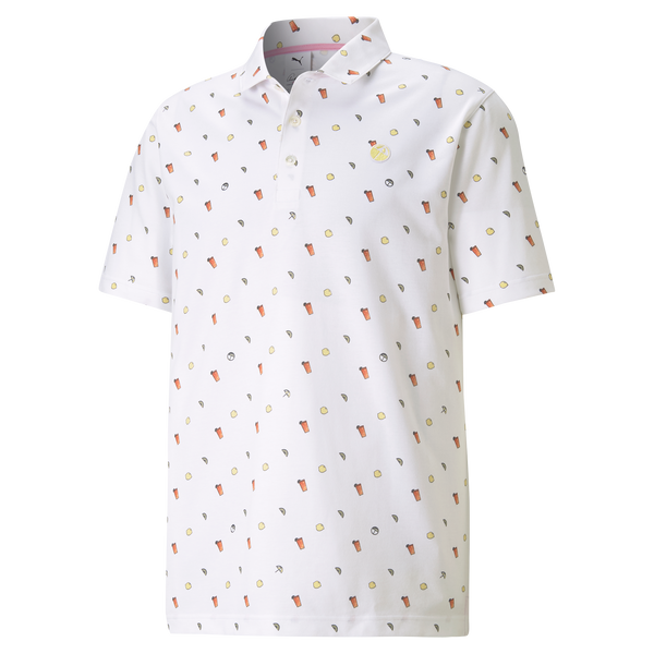 WHITE 'Lemons' Golf Polo Shirt - Arnold Palmer X PUMA / MEN