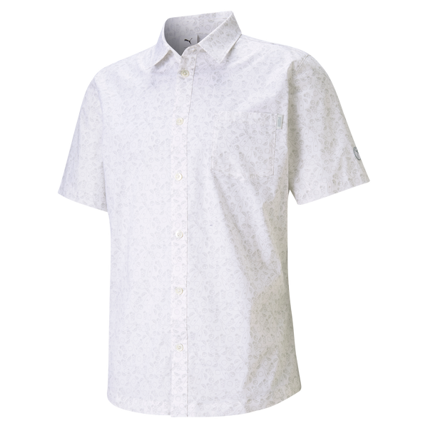 WHITE '19th Hole Button Down' Polo Shirt - Arnold Palmer X PUMA / MEN