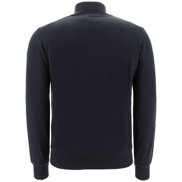 BLACK 'NOE' GOLF  wind-proof KNITWEAR - MEN / AW19