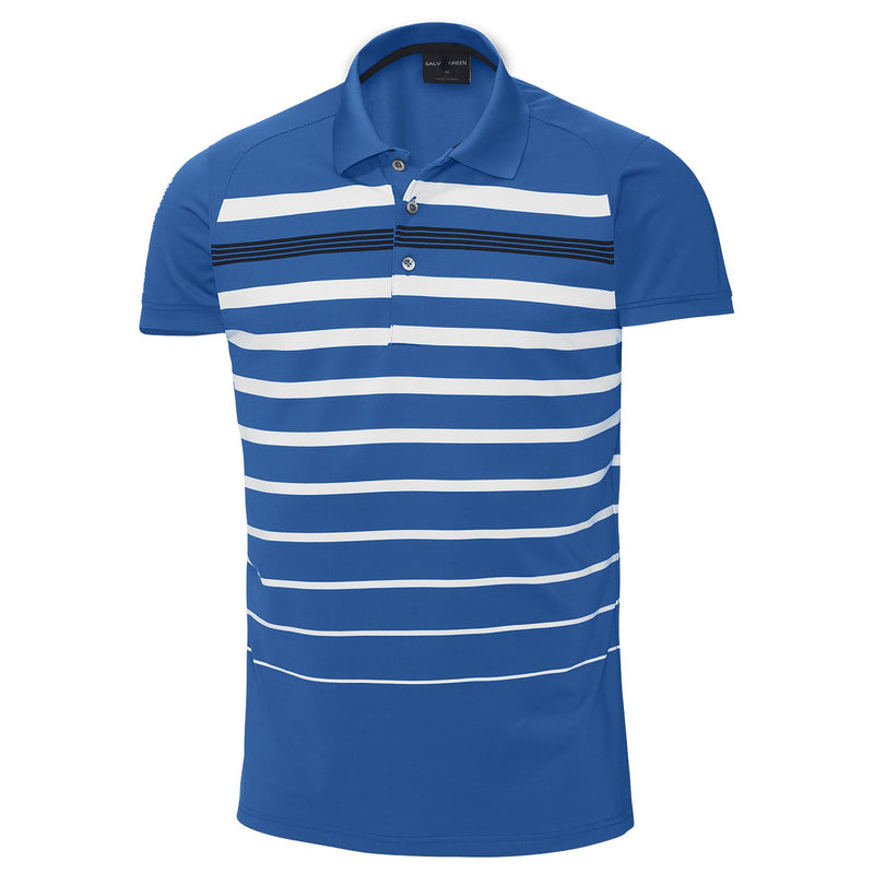 KINGS BLUE/WHITE/BLACK MAX VENTIL8 GOLF SHIRT  - AW17