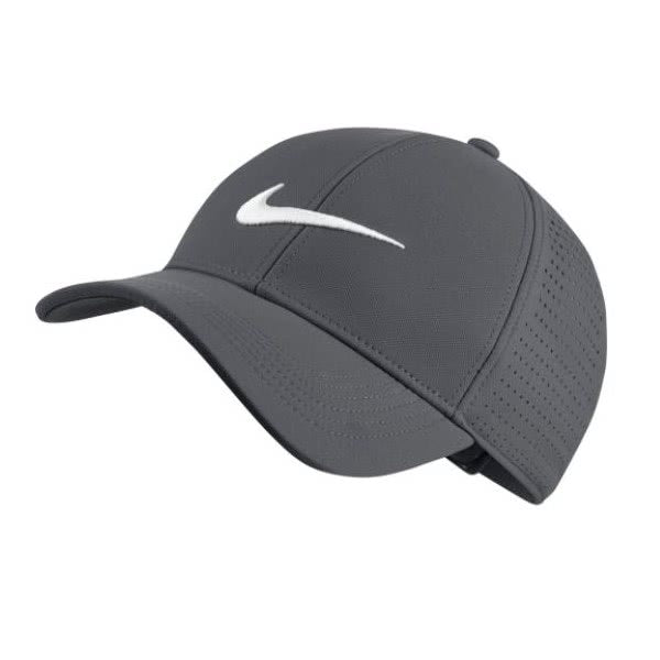 Grey 'LEGACY 91' PERFORATED GOLF CAP - UNISEX / SS20