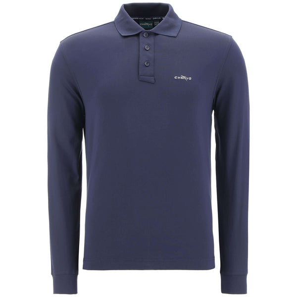 BLUE/GREY ANGUY GOLF polo - MEN / AW19