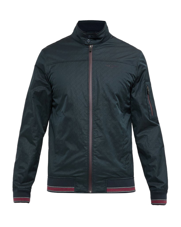 Navy 'SQUARES' Lightweight golf bomber jacket - Men's / SS18