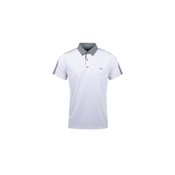 WHITE COLOUR SPLIT POLO   -