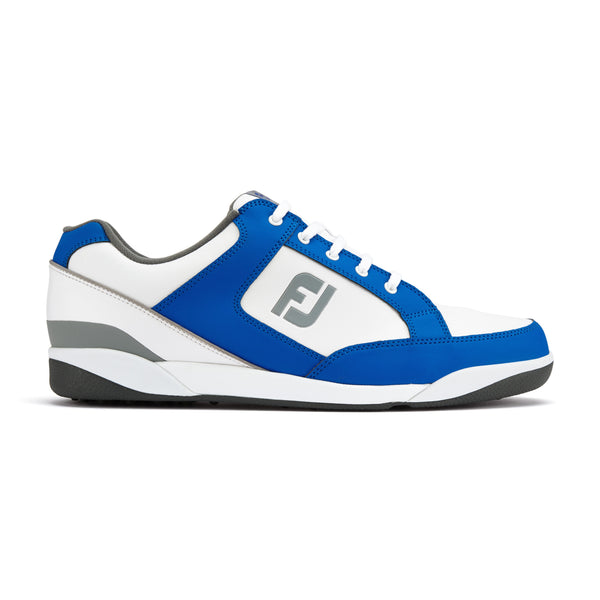 White/Blue FJ Originals SPIKELESS GOLF SHOES - Men / OUTLET