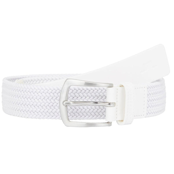 White Caspian Elastic Braid Belts - Men's / AW18